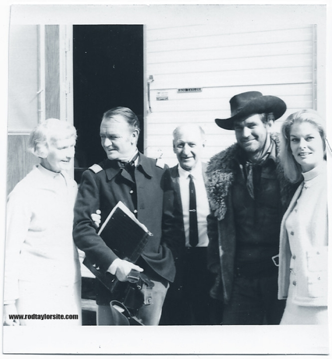 Photo of Mona Taylor. John Mills, Bill Taylor, Rod Taylor and Mary Taylor.
